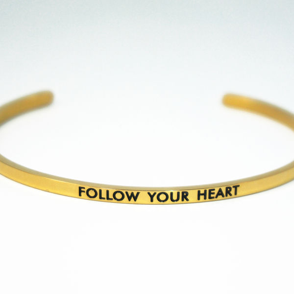 FOLLOW YOUR HEART 刻字手環